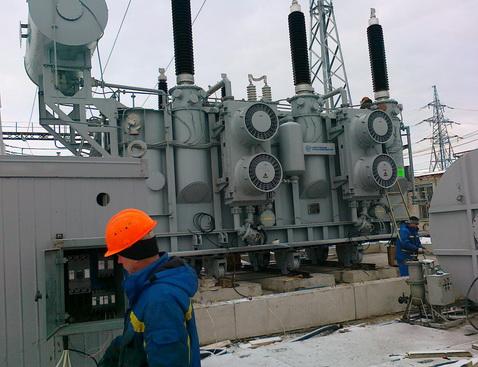 Монтаж силовых трансформаторов