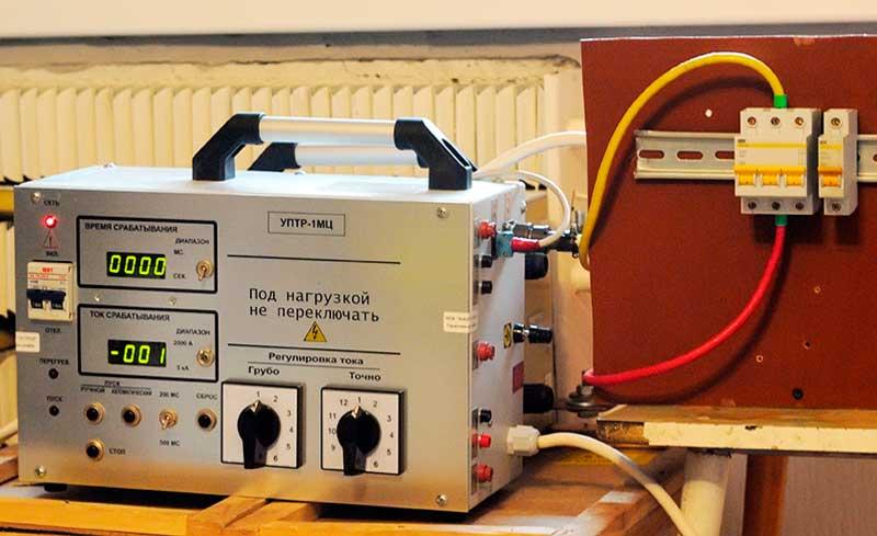 Испытание (прогрузка) автоматических выключателей, проверка срабатывания